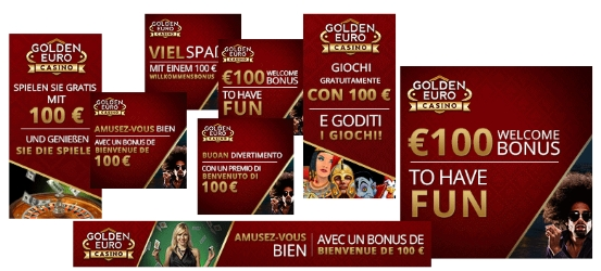 Golden Euro Casino Banner Selection